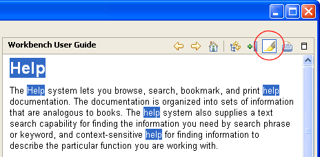 Search highlighting toogle button
