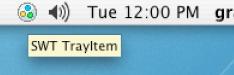 System tray on Mac OS X
