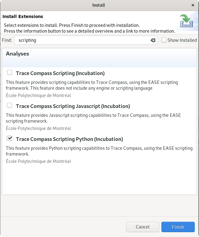 Trace Compass Scripting User Guide